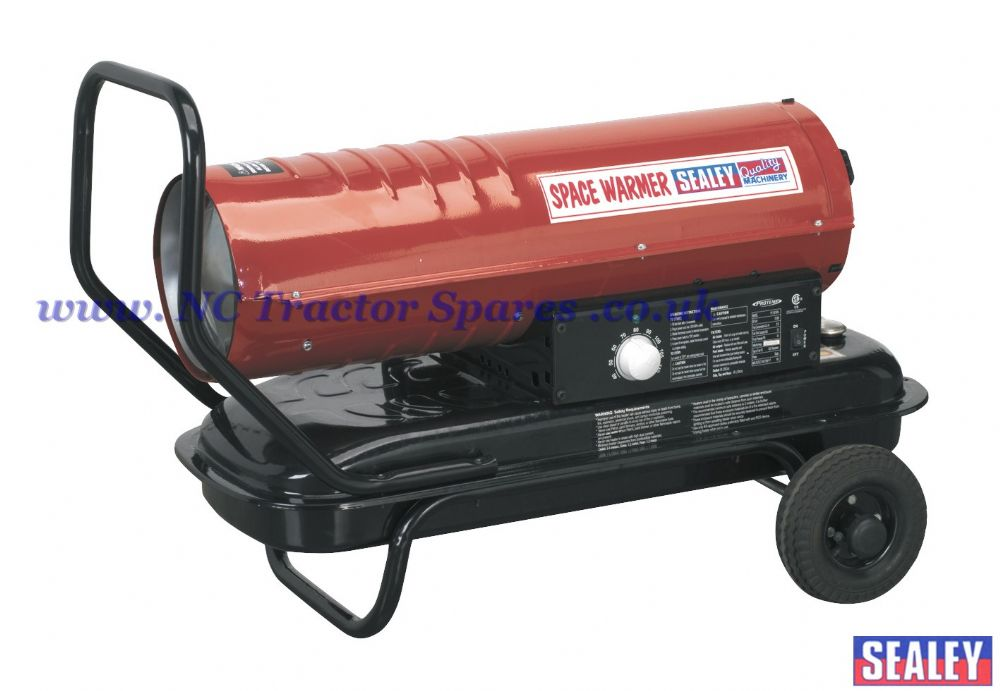 Space Warmer Paraffin, Kerosene & Diesel Heater 70,000Btu/hr with Wheels